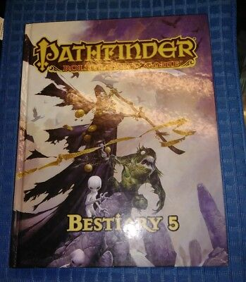 Dungeons & Dragon Pathfinder Role-playing Game Bestiary 5 1st print free s&h