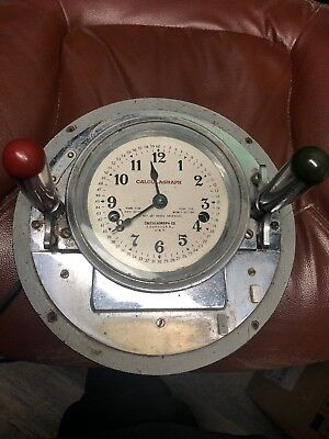Vtg Calculagraph Made By Calculagraph Co. Harrison, N.j. Nice Steampunk Piece!