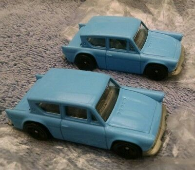 Two Harry Potter Hot Wheels Spider Swarm Ford Anglia 105E Cars Mint Case Fresh