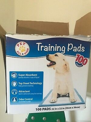 """Dog Pet Training Pads Puppy Pee Super Absorbent 22x22"""" 100 Pad 5 Layer 2018"""