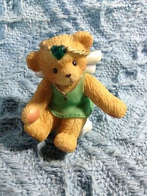 "Nos 2001 Avon Cherished Teddies ""angel On Cloud"" May Birthstone 824453"