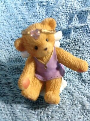 "Nos 2001 Avon Cherished Teddies ""angel On Cloud"" June Birthstone 824461"