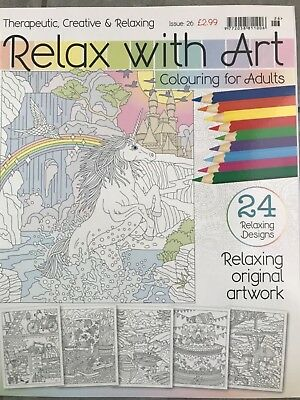 relax with art colouring book