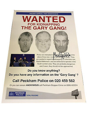 Only Fools & Horses The GARY Gang Poster Hand Signed by John Challis A3