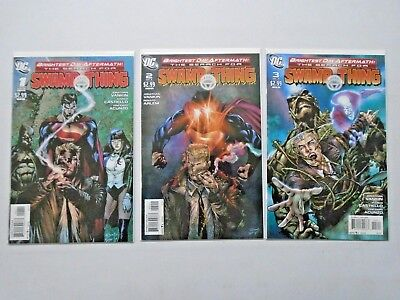 Brightest Day Aftermath Search for Swamp Thing #1 to #3 - see pics - 8.0 - 2011