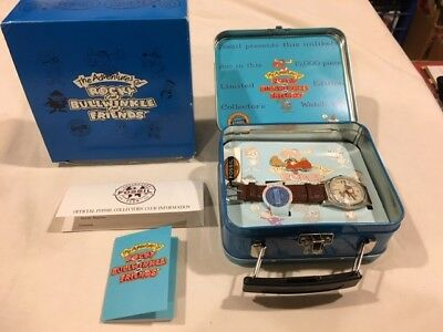 Rocky & Bullwinkle Fossil Limited Edition Watch / Pin / Lunchbox Set, in Box