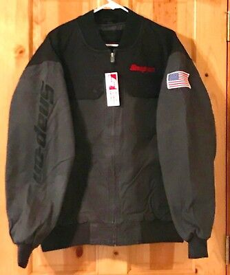 NEW Snap on Tools Mens Black/Gray Work Winter Coat Jacket NON-Hooded Embroidered