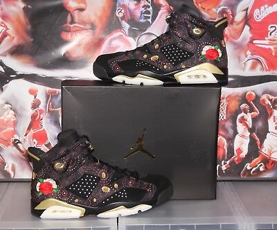 5b4df2276e97fb ... Air Jordan Retro 6 CNY Chinese New Year Size 14 AA2492-021 LIMITED Black  Gold ...