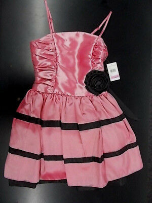 NWT Kate Spade Girls Sleeveless Pink Floral Mesh Party Dress 8 10 12 14 NEW $64