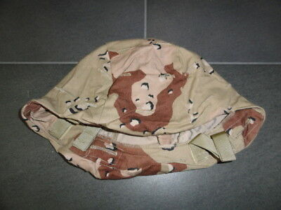 US ARMY 6-Color-CAMO COVER M/L PASGT HELMET DESERT STORM SPECIAL FORCES Large e9