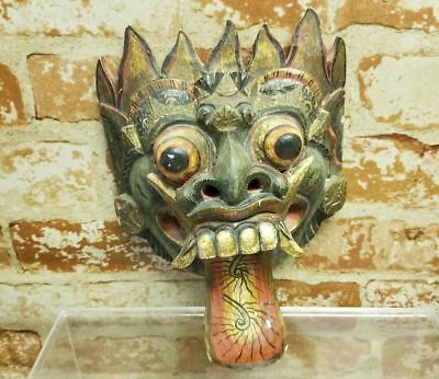 Hand-Painted Wood Bali Barong Mask
