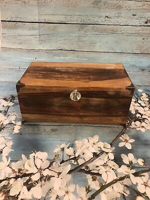 Antique Vintage Wooden Carved Jewelry Trinket Box