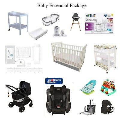 Mother's Choice Avoro Car Seat  Pram COT Change Table Avent Bottle Bedding Pack