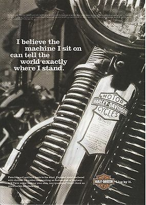 2006 Harley Davidson V-Twin motorcycle print ad   Great to frame!