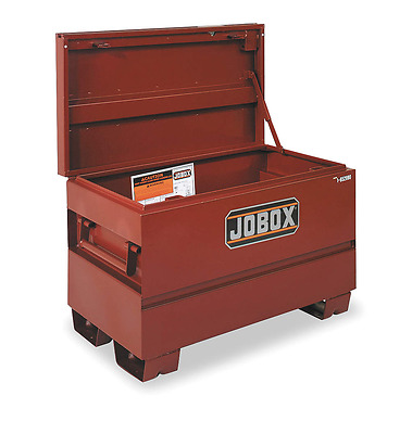 "Jobox Jobsite Chest, 42"" W x 20"" D x 23-3/4"" H, Brown, 1-653990"
