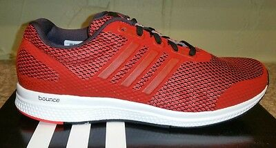 0ce9cd3af77cdf NEW Adidas Men Athletic Mana Bounce M Running sneakers Shoes Scarlet size  9.5