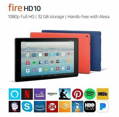 "Amazon Fire HD 10 32GB 10.1"" + Extra: 16GB MicroSD,Google Play Store,Case,No Ads"
