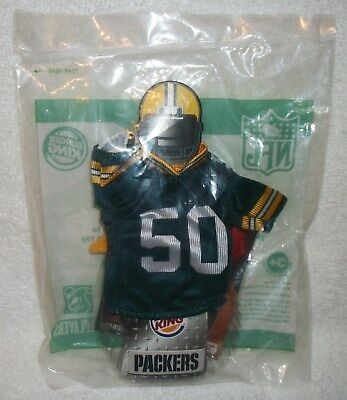 New 2007 A J Hawk #50 Green Bay Packers Jersey Happy Meal Toy Free Shipping