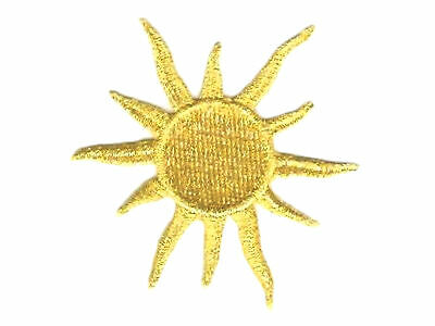 "3"" Celestial Metallic Gold Sun embroidery patch"