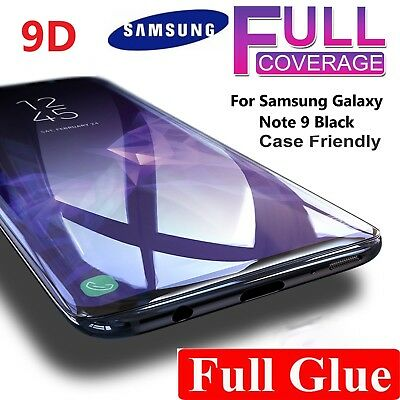Full Glue Tempered Glass Screen Protector For New 9D Samsung Galaxy Note 9 Black