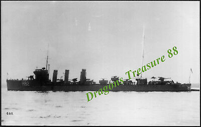 H.M.S. RESTLESS (H82), Photo, Royal Navy R-class Destroyer,1916 - 1936