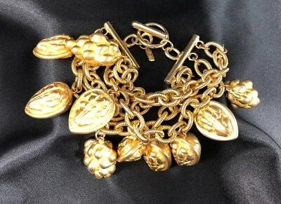 Vintage Escada Bracelet Gold Tone Unique & Hard To Find!!!!!!