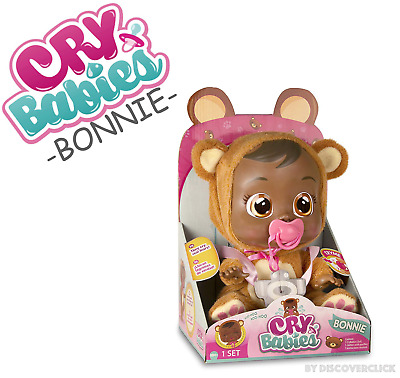NEW Cry Babies BONNIE Baby Doll Girls Toy Bear - IMC TOYS AAA Batteries Included