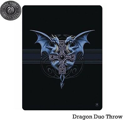 Anne Stokes Dragon Duo Polar Fleece Throw Rug Blanket - Brand New