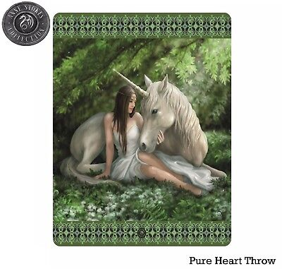 Anne Stokes Pure Heart Polar Fleece Throw Rug Blanket - Brand New