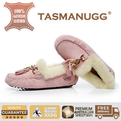 Tasman UGG -Flora Moccasin, Water-resist silky suede, Women/Ladies, Pink Cl
