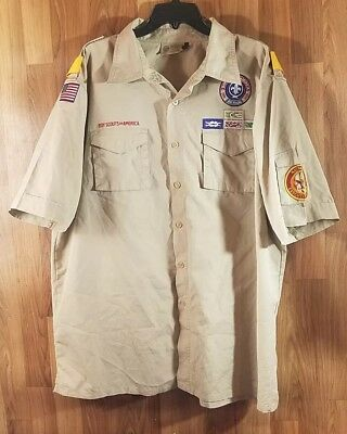Boy Scouts of America National Executive Staff  Short Sleeve Shirt Size XL