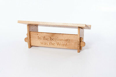 Solid Oak Carved / Engraved Bible Stand Table Top Lectern Gift or Church Use