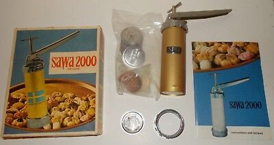Vtg SAWA 2000 DELUXE Cookie biscuit maker press, pastry, piping, baking - Sweden