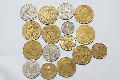 Kenya Old Currency Coin Set A98 Xw33