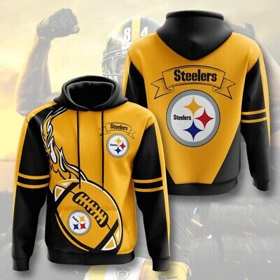 NEW! Pittsburgh STEELERS Hoodie SF NFL Football Hooded Sweatshirt Pullover S-5XL