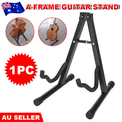 Folding Electric Acoustic Bass Portable Guitar Holder Stand Floor Rack A Frame
