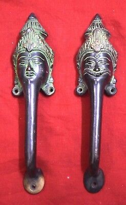 Brass Door Handle Indian Tradition King And Queen Design Handle Handmade BM674