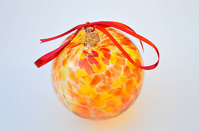 "10cm 4"" Friendship /Kugel / Witches Ball ""Red and Yellow"""