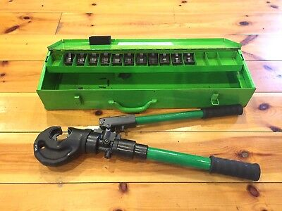 Dubuis, Glenair C130 Hydraulic Crimp Tool with Die Sets and Miles Roystone Case