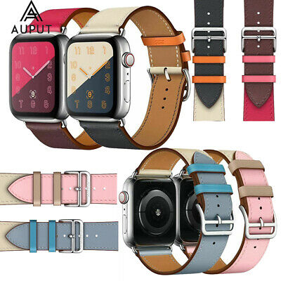Single Tour Leder Uhren Armband Für Apple Watch Series 4/3/2/1 40/44/38/42mm DE