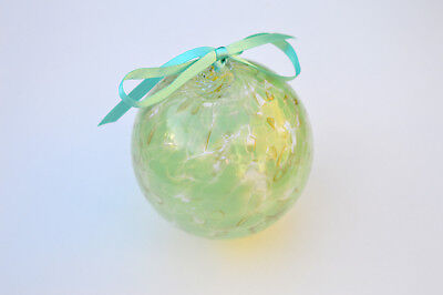 "10cm 4"" Friendship /Kugel / Witches Ball ""Mint"""