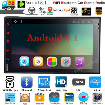 """2Din Android 9.1 7"""" 1080P Touch Screen Quad-Core 1+16G Car Stereo Radio GPS Wifi"""
