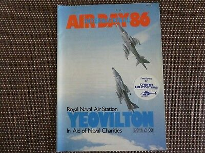 Yeovilton International Air Day 1986 Programme with entry tickets