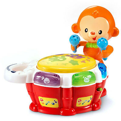 Musical Kids Monkey Drum Play Baby Toddler Colourful Music Educational Toy Gift
