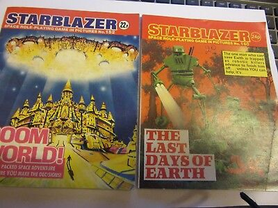 Starblazer Comics, # 152 + 160, Role Playing Game, Choose Your Own Adventure, FF