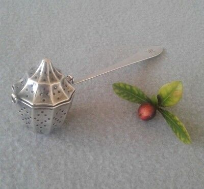 Antique c.1900 Webster Co. Sterling Chainless Acorn Tea Ball Infuser w/ Handle