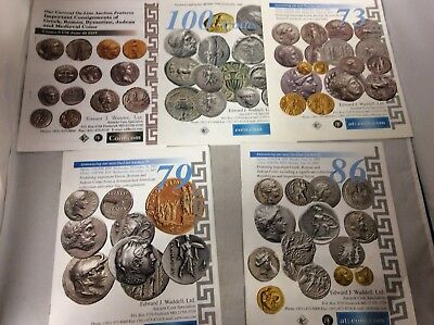 Coins Catalogues Byzantine Greek Roman Lot of 5 Auctions Medieval Ancient