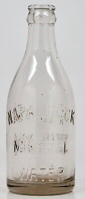 Vintage NAPA ROCK Mineral Water Bottle 8 oz. Size Clear Glass Bottle