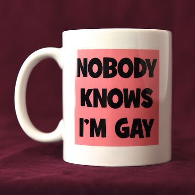 Nobody Knows I'm Gay - LGBT+ Mug, Funny Mugs
