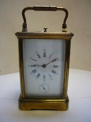 Antique French Striking/Repeating/Alarm Carriage Clock for Repair/Restoration